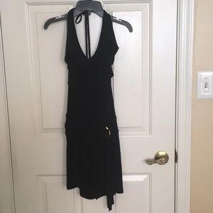 Cache Dresses - Black cache halter dress